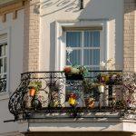 balkon, blumen, haushalt, terrasse, sonnenschirm, entspannung,